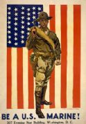 Vintage War Poster First in the fight. Always faithful. Be a U.S. Marine!